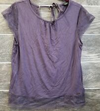 Rosie for Autograph Women Lounge Top Sleepwear Size UK10 EUR 38 Purple Lace Soft