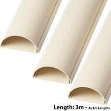 3x 1m (3m) – 50mm x 25mm MAGNOLIA Scart/Cavo Dati coperchio della canalizzazione/Tubo Protettivo-AV