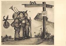 """Alte Originale Hummel Karte Schwarz weiß gezackter Rand """"1560"""" 1930 unbesch."""
