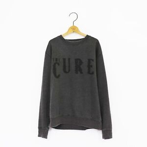Men's 'The Cure' Distressed Vintage-Style Rock Sweatshirt