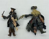 Disney Pirates of the Caribbean Jack Sparrow  & Davy Jones 6 Inch Action Figures