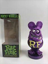 Rat Fink Figure Roth Ed Biig Daddy Funko Purple Bobblehead Wacky Wobbler Gift