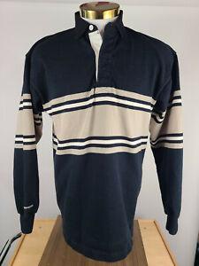 Barbarian Rugby Wear XL Shirt Heavy Rugged Cotton Black Tan or Beige EUC