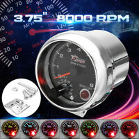 "12V Universal Car 3.75"" Tachometer Tacho Gauge 7 Color W/ Shift Light 0-8000RPM"