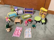 KidKraft Wooden Dollhouse Deluxe Townhouse Furniture Bathroom Beds Kitchen +