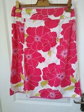 Monsoon Skirt - coral floral -size 12