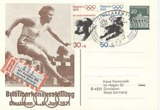 Germany Olympische Spiele Olympic Games 1972 Used Reg. stationery card 20Pf.