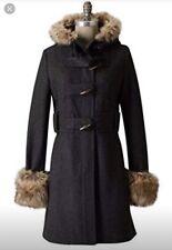 Anthropologie Elevenses Deep Woods Wool Toggle Coat sz 0