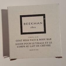 Beekman 1802 Fresh Air Goat Milk Face & Body Bar soap, 1.25. Sets of 3