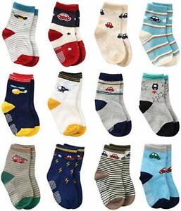 12 paia calzini antiscivolo bambino cotone bimbo fantasie mix mesi e anni
