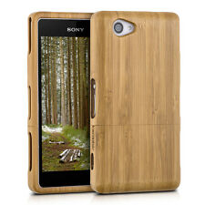 WOOD COVER FOR SONY XPERIA Z1 COMPACT BAMBOO LIGHT BROWN CASE BACK HARD NATURAL