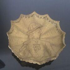 Vide Poche en Bronze Doré Femme A l'Ombrelle Art Nouveau 1900