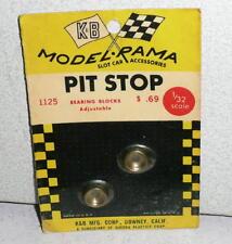 K&B Model-Rama Pit Stop 1/32 Bearing Blocks Adjustable #1125 *Moc 1960's Nos
