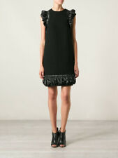 CHRISTOPHER KANE  Black Shell-Trimmed Crepe Dress