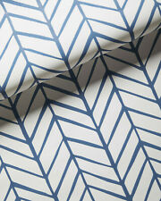 New double roll - SERENA & LILY Feather Wallpaper - French Blue - Chevron