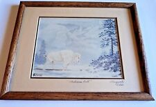 Framed Signed Marguerite Fields 1988 Print of Medicine Bull Limited Edition