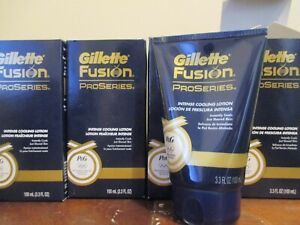 Lot of 4 Gillette Fusion ProSeries Intense Cooling Lotion 3.3 oz / 100 mL