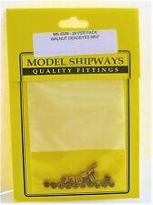 Model Shipways Fittings MS 0339 Deadeyes, Wanlut 9/64'' (3.5mm). 20 Per Pack.