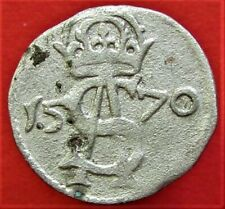 Silver Medieval Coin 2 Denar 1570 Poland, Lithuania