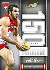 2016 AFL Footy Stars Trading Cards Milestones Subset MG76 Josh Kennedy (Sydney)