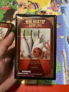 Mini Desktop Bowling Game 7- Piece Set NIB