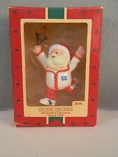 GO FOR THE GOLD - Santa Claus Olympic Torch Runner - HALLMARK KS ORNAMENT - 1988