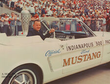 Ford Mustang Convertible 1965 & Benson Ford - pace car Indianapolis 500 photo