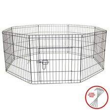 AVC Dog Puppy Rabbit Foldable Playpen Enclosure Indoor/Outdoor Cage (Medium)