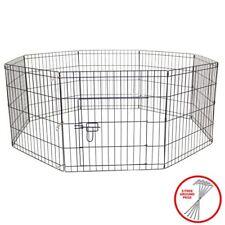AVC Dog Puppy Rabbit Foldable Playpen Enclosure Indoor/Outdoor Cage (Medium)