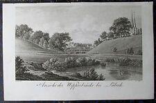 LÜBECK. Seltener Kupferstich von RADL / SEYFFER, 1822