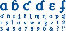 QUICKUTZ sophisticate mini alphabet (2x2) NIP  SGSA-07