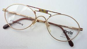 Vintage Glasses High Quality Metal Frame Spring Clip Fancy New Gold Size M