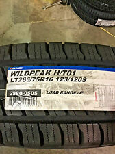4 New LT 265 75 16 LRE 10 Ply Falken Wildpeak H/T01 Tires