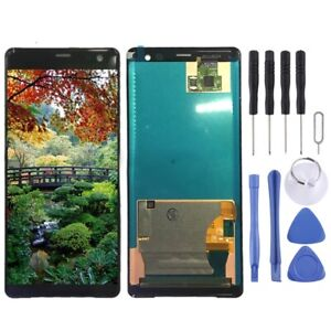 BLACK LCD Panel Screen Digitizer Full Complete Replacement For Sony Xperia XZ3