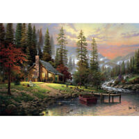 DIY 5D Full Drill Diamond Painting kit Mountain Lake Cross Stitch Home Decor DIY