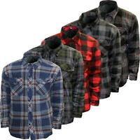 New Mens Flannel Padded Work Shirt Quilted Lined Lumberjack Thick Jacket S-5XL
