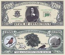 Two Connecticut CT State Quarter Commemorative Bills #104