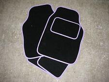Universal tappetini auto in nero con un Lilla / Viola Chiaro Taglia + TAPPETO Tallone Pad