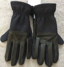 Brand New Genuine Barbour Rugged Melton Wool Mix Glove Medium Navy / Black