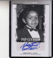 """2011 LEAF  POP CENTURY EMMANUEL LEWIS  """"WEBSTER"""" AUTOGRAPH AUTO"""