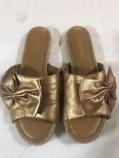 Aerosoles Buttercup Slide Sandals  Women's Size 8M Bronze Gold New