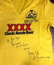worn signed kangaroos Australia gary Jack Train Shirt Not jersey Balmain Tigers