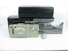 Olympus XA2 35mm Film Camera, w/ case, flash BOXED FREE EMS SHIPPING JAPAN
