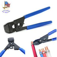 Pex KIT Pipe Tube Crimper Crimping Tool Plumbing Cutter +35 Rings cinch clamps