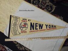 Vintage 1978 New York Yankees World Series Felt Pennant American League Champs