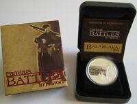 Tuvalu 1 Dollar 2009 Famous Battles Balaklava 1 Oz Silber