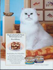 Fanci Feast White Cat Vintage Magazine Print Ad 2001
