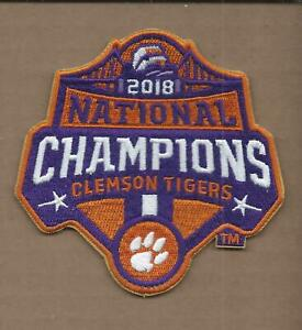 """NEW 4"""" CLEMSON TIGERS 2018 NATIONAL CHAMPIONS IRON ON PATCH FREE SHIPPING"""