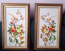 Ho Chu oil on canvas Birds Bright Beautiful Colors