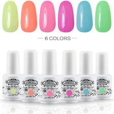 Any 6pcs Shiny UV Gel Nail Polish Set Soak off Nail Art Varnish Kit Manicure DIY